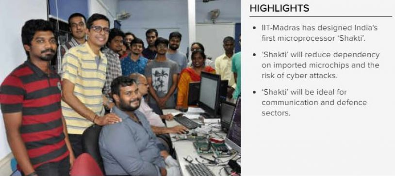 IIT-Madras creates 'Shakti',Worlds second most fastest microprocessor, India's first microprocessor