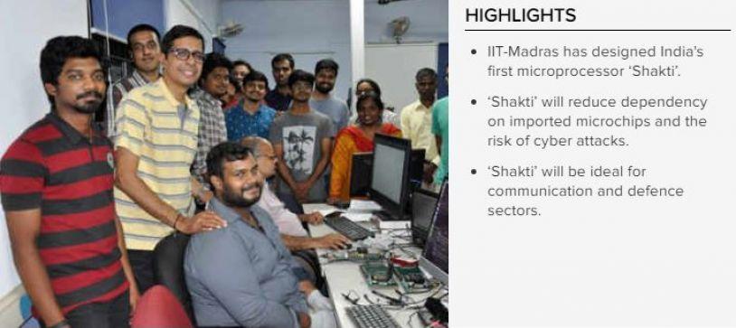 IIT-Madras creates 'Shakti',Worlds second most fastest microprocessor, India's first microprocessor